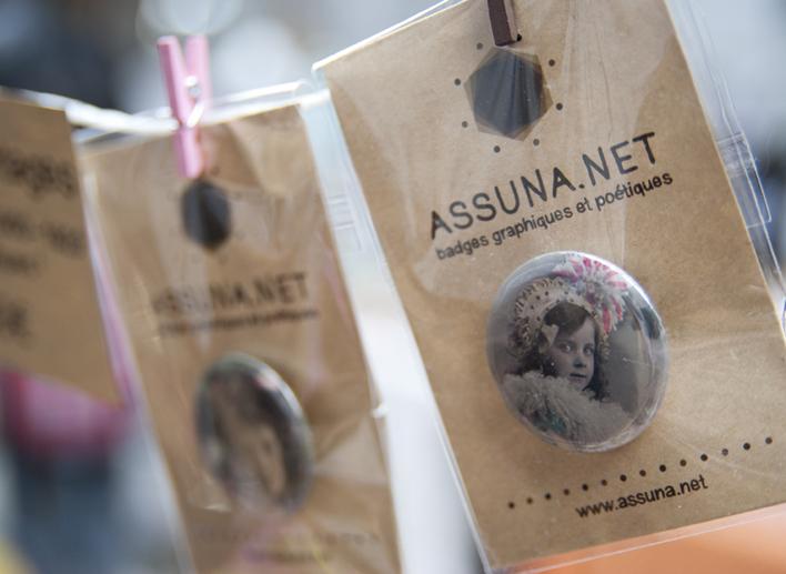 Mes badges vintages au Free Market de Paname