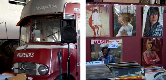 Camion de la scène du Free Market #3 et Stand de Yeti Records