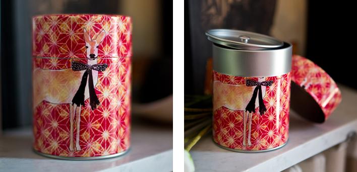 Boîte à thé Biche