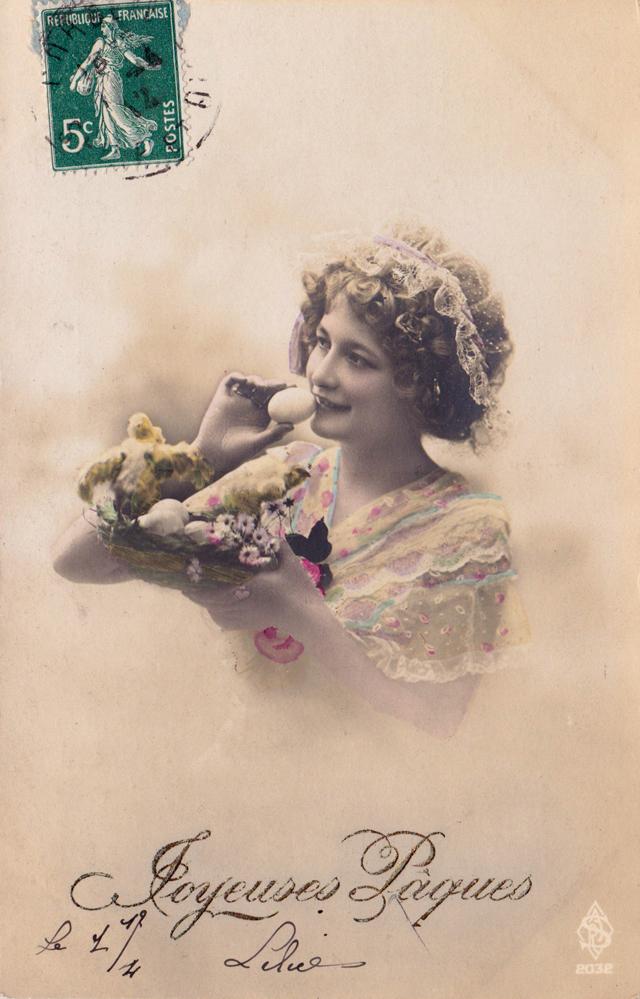 Joyeuses Pâques carte vintage