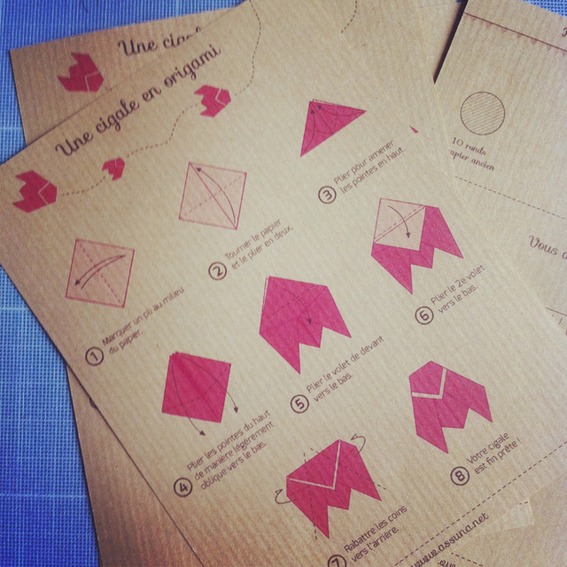 tutoriel Assuna pour pliage origami sur Instagram