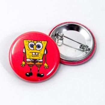 Duo badges 32mm Bob l'éponge