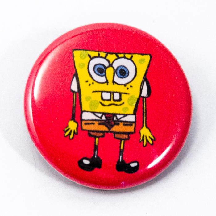 Badge 32mm Bob l'éponge rouge