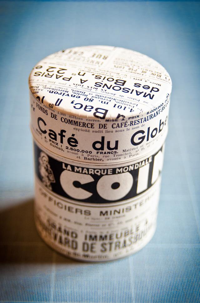 Assuna boîte à thé Cointreau de face, première de la gamme boîtes à thé vintages