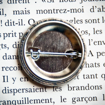 Badge vintage 32mm Bois Flotté
