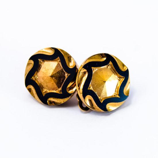 Boucles boutons 1920 étoile clip