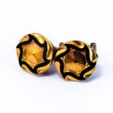 Boucles boutons 1920 étoile clous