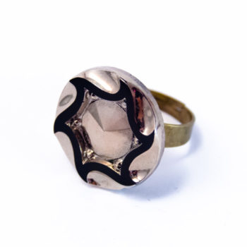 Silver coloured Marcelle ring