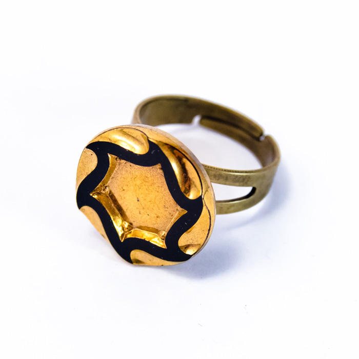 Small golden Marcelle ring