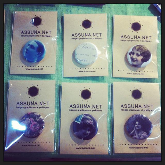 Les Filles de Saison spéciale upcycling, badges vintages Assuna
