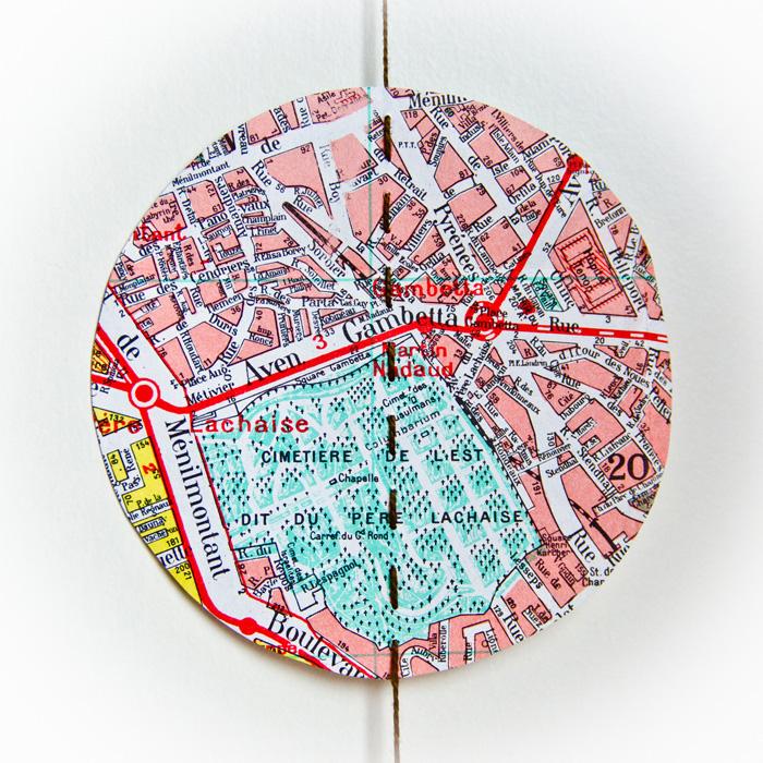 Grande guirlande vintage plan de Paris