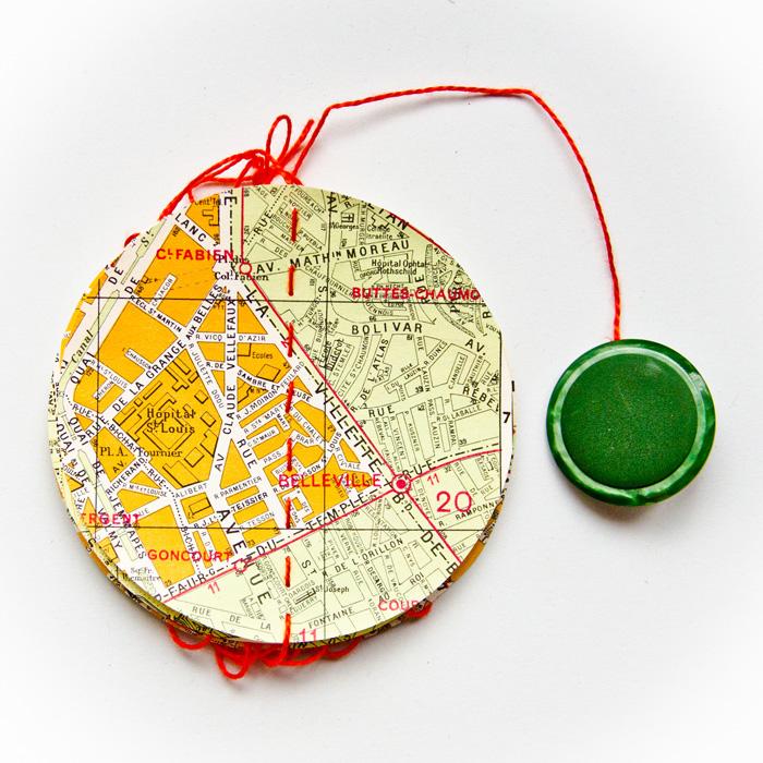 Guirlande vintage plan de Paris