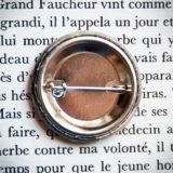 Souhaits sincères pour 1912 dos - badge vintage 32mm