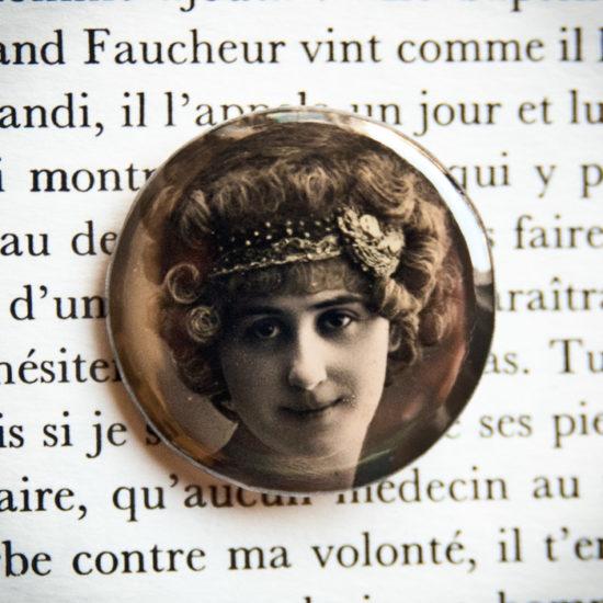 Souhaits sincères pour 1912 - badge vintage 32mm