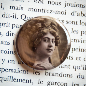 Badge vintage 32mm Sincères affections