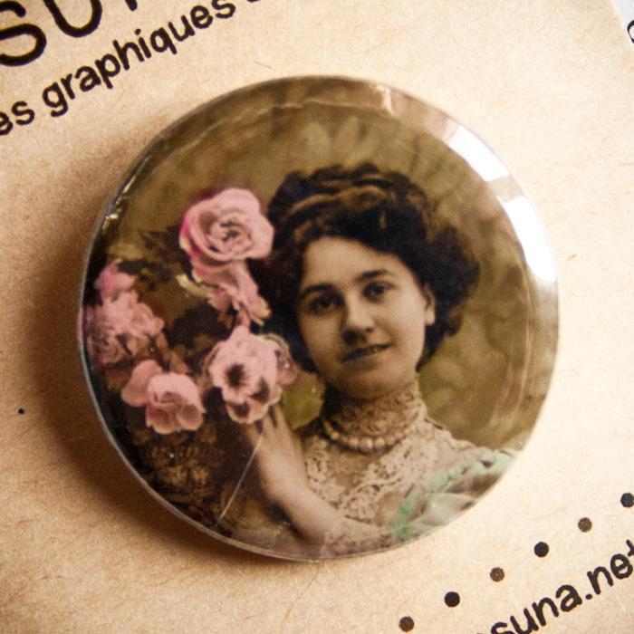 Badge vintage Ces fleurs pour vous