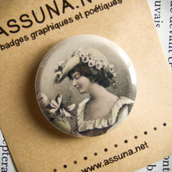Badge vintage Gente Dame 32mm