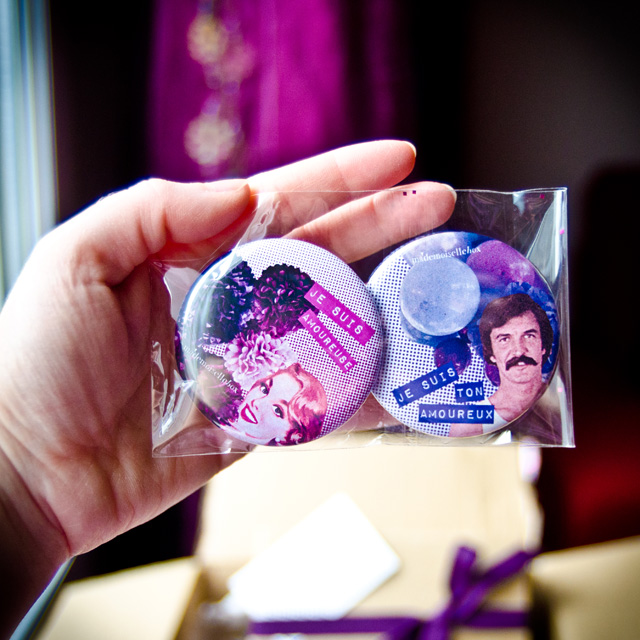 Les badges de la Mademoiselle Box #03 Pretty Purple