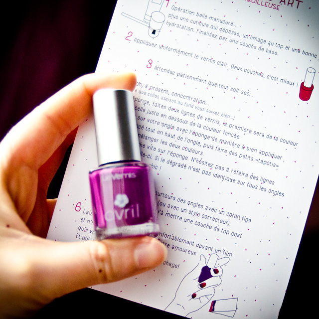 Le DIY et tuto nail art de la Mademoiselle Box #03