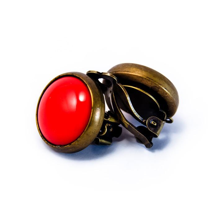 Boucles rétros clip rouges dos