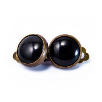 Boucles rétros clip noires