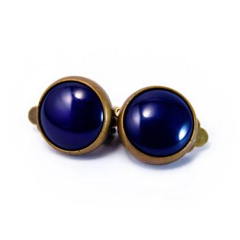Boucles rétros clip bleues