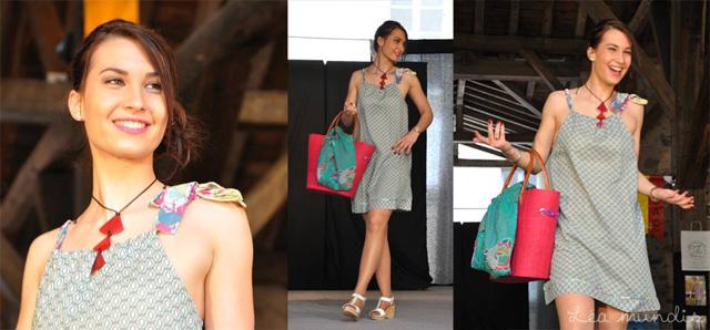 Défilé de mode à Clisson, la deuxième tenue proposée par Léa Mundis.