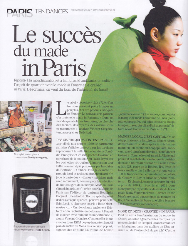 Le succès du made in Paris page 1