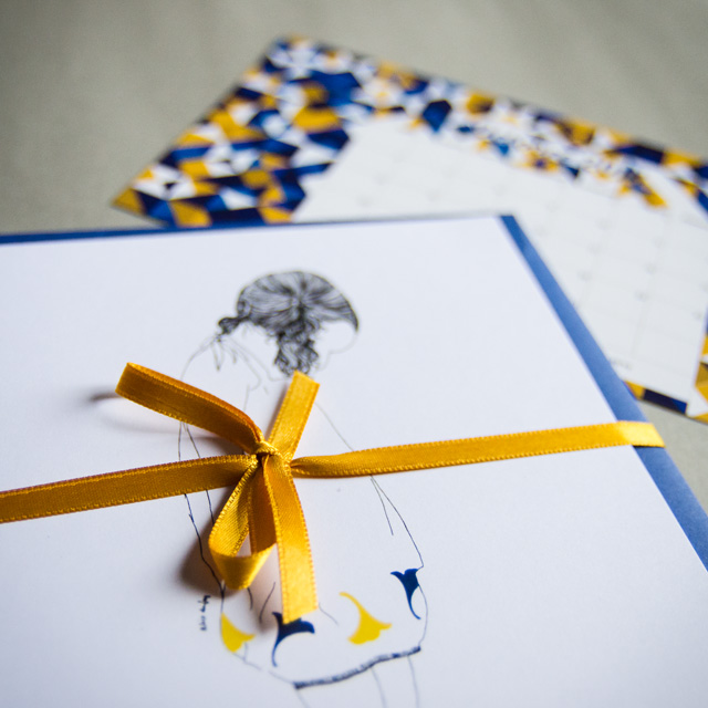 L'élément papeterie : les cartes postales de l'illustratrice Alice Dufay