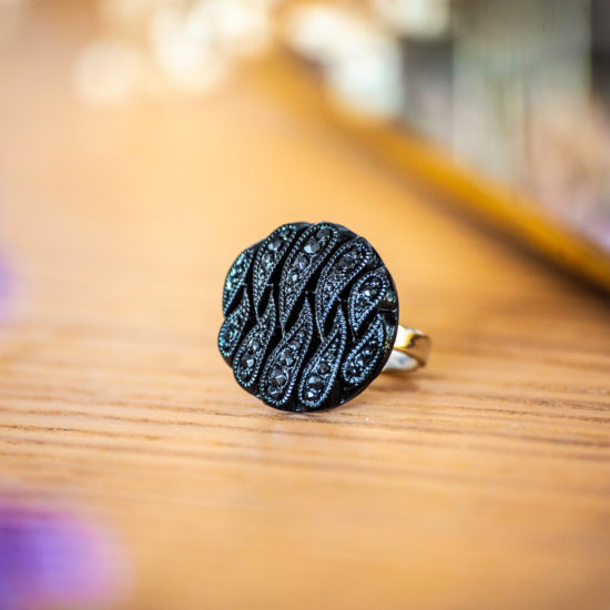 Assuna - Bague Odile - Bague bouton ancien d'inspiration vintage
