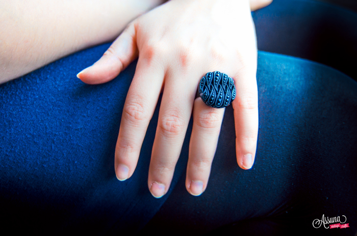 Odile blue ring