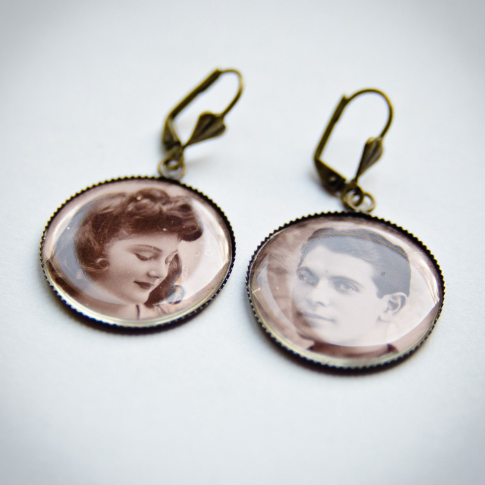 Studs earrings 40s Couple