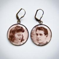 Boucles d'oreilles couple années 40