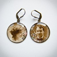 Boucles d'oreilles couple romantique
