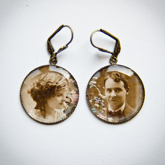 Romantic Couple studs earrings