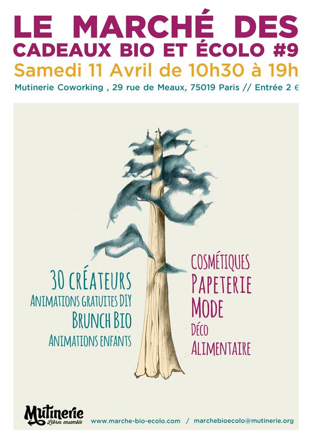 Affiche du 9ème Marché des cadeaux bio et écolo