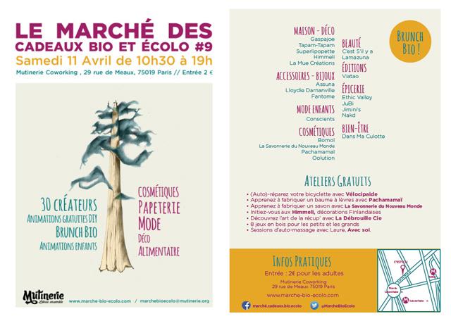 Programme du 9ème Marché des cadeaux bio et écolo