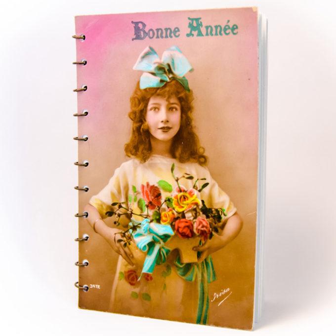 Carnet Jeunes Filles vintage face