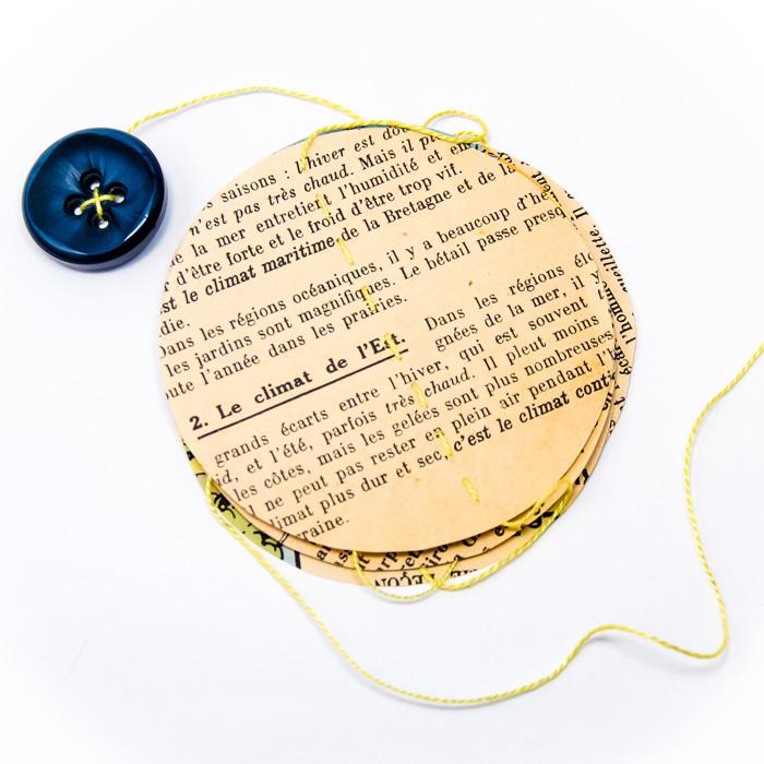 Petite guirlande vintage carte et textes