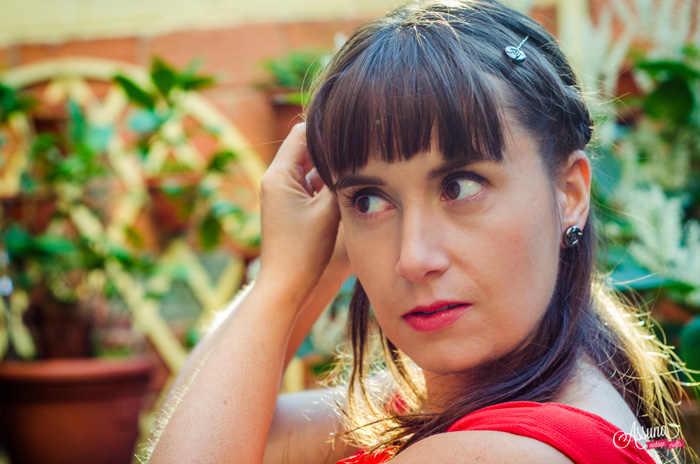 Assuna 2015/2016 - Boucles d'oreilles et barrette boutons anciens - Arlette argenté