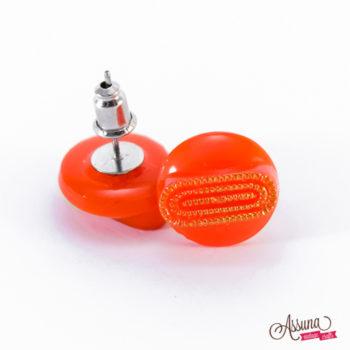 Boucles d'oreilles Georgette orange