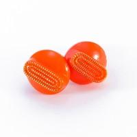 Boucles d'oreilles Georgette orange carotte