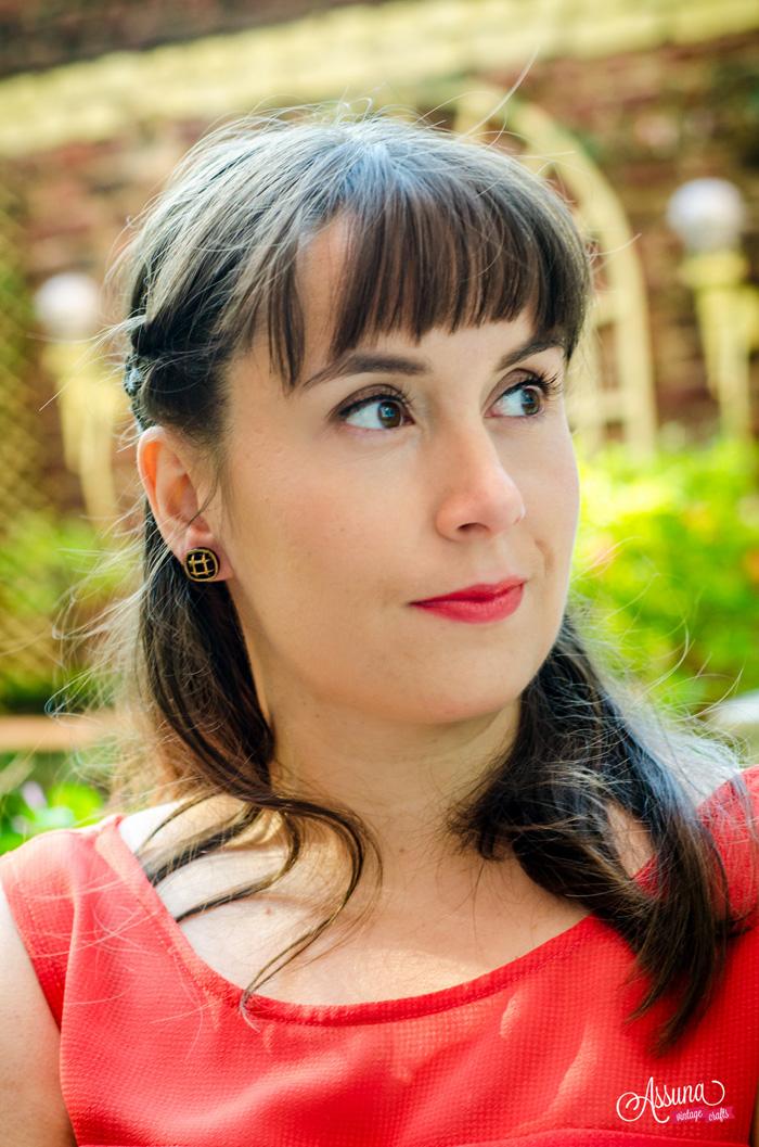 Assuna – Boucles d'oreilles Paulette doré