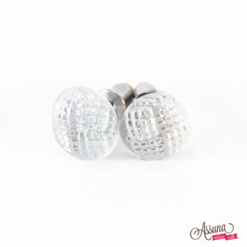 Boucles d'oreilles Blanche (petit modèle)
