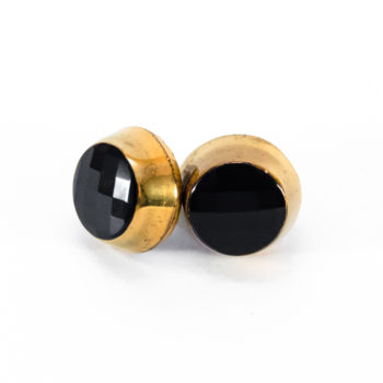 Golden studs earrings Liliane