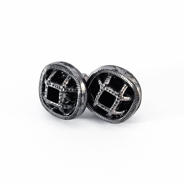 Silver studs earrings Paulette