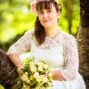 Assuna - Mariage Boucles d'oreilles et barrette Blanche nacrée (grand modèle)