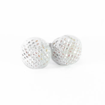 White studs earrings Blanche