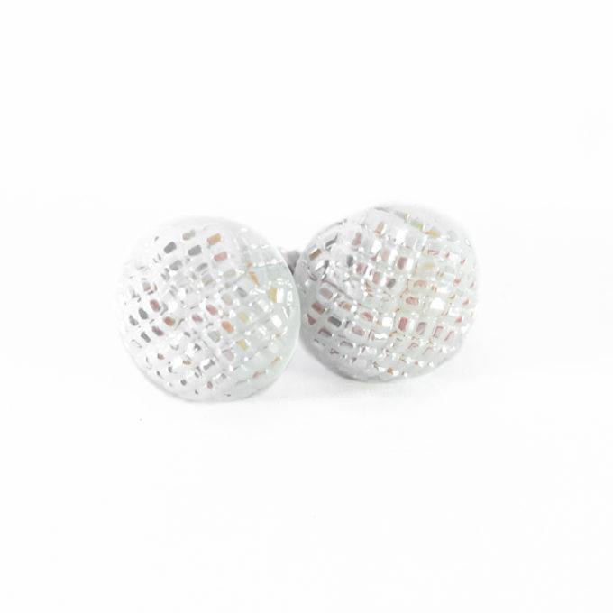 Assuna - Boucles d'oreilles Blanche nacrée (grand modèle)