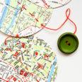 Guirlande vintage verte rues de Paris